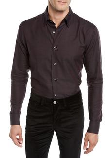 Brioni Men's Textured Cotton Sport Shirt