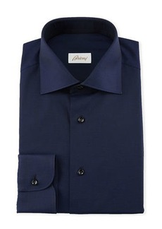 Brioni Men's Textured Solid Dress Shirt