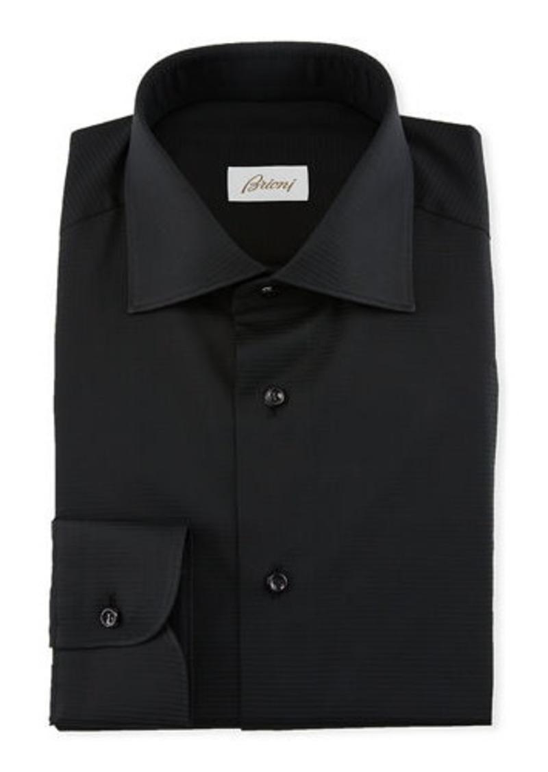 Brioni Men's Textured Solid Dress Shirt