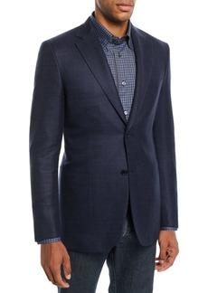 Brioni Men's Textured Wool-Blend Blazer