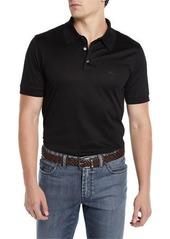 Brioni Men's Three-Button Jersey Polo Shirt