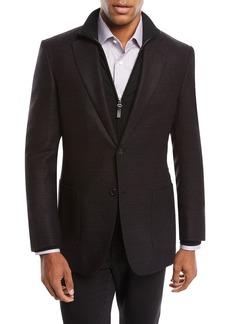 Brioni Men's Tic Cashmere Two-Button Blazer Jacket