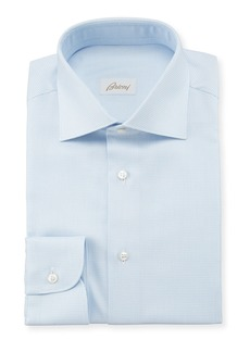 Brioni Men's Tic Check Dress Shirt