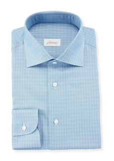 Brioni Men's Tonal Check Dress Shirt