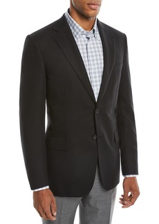 Brioni Men's Two-Button Wool Twill Blazer