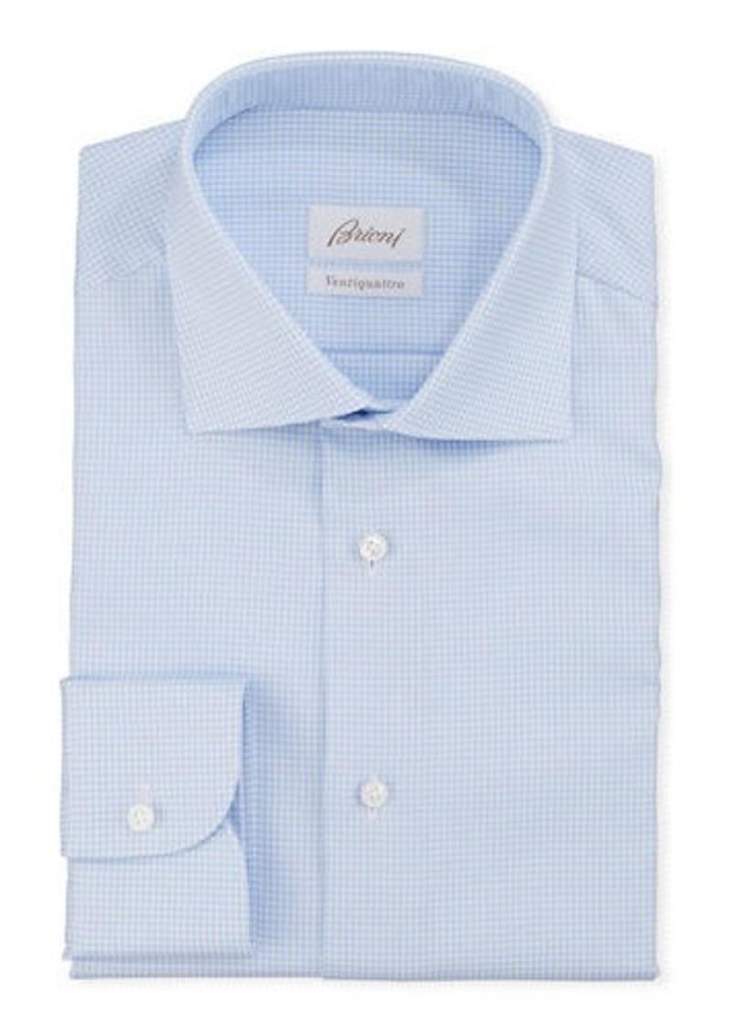 Brioni Men's Ventiquattro Check Dress Shirt