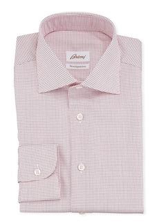 Brioni Men's Ventiquattro Graph Check Dress Shirt