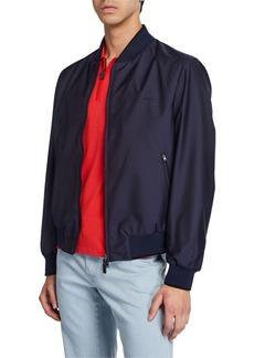 Brioni Men's Waterproof Zip-Front Bomber Jacket