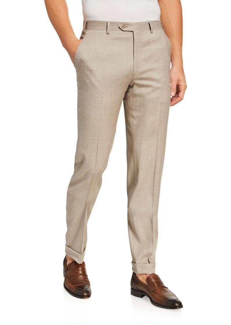 Brioni Men's Wool Straight-Leg Pants