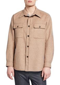 Brioni Men's Wool/Cashmere Overshirt