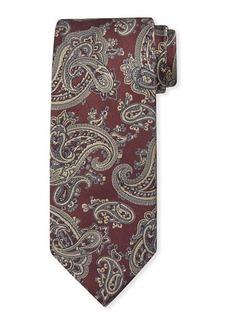 Brioni Men's Woven Paisley Silk Tie