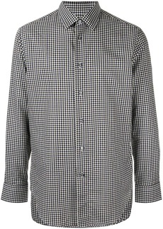 Brioni micro check shirt