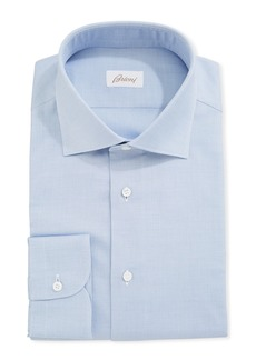 Brioni Micro Neat-Weave Cotton Dress Shirt