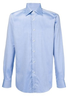 Brioni micro textured shirt