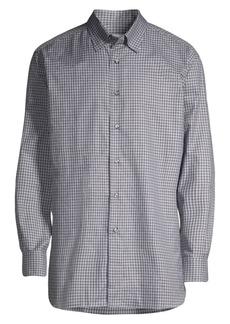 Brioni Mini Check Shirt