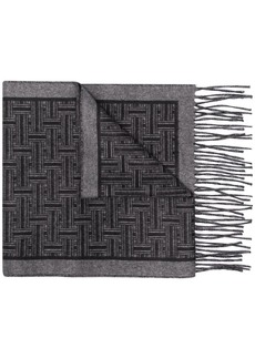 Brioni monogram knitted scarf