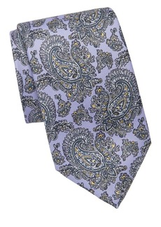 Brioni Outlined Paisley Silk Tie