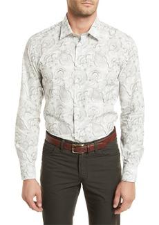 Brioni Paisley-Print Long-Sleeve Shirt