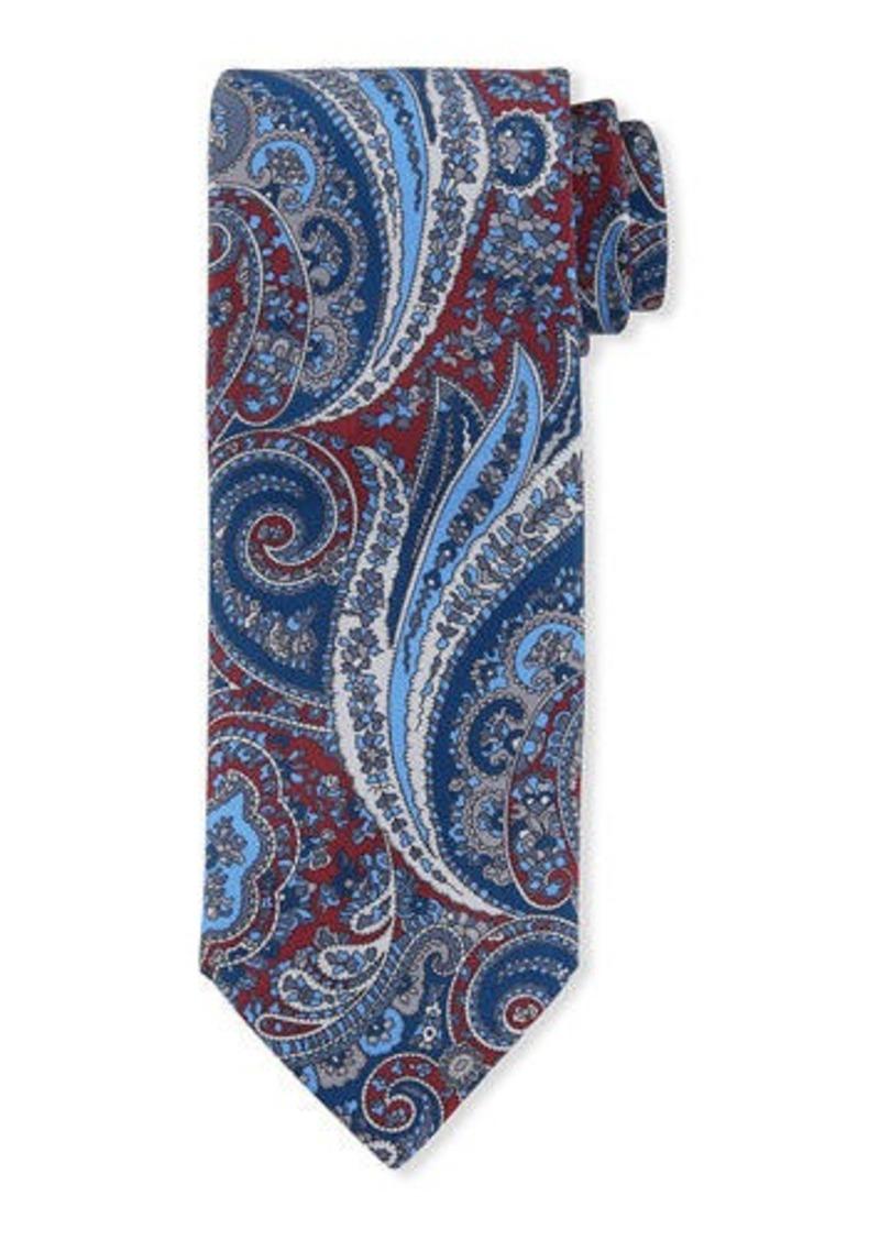 Brioni Paisley-Print Silk Tie
