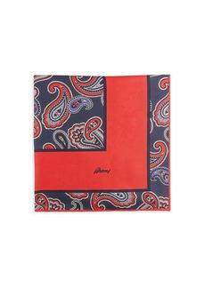 Brioni Paisley Silk Pocket Square