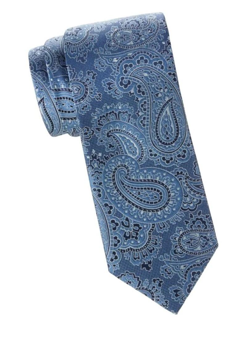 Brioni Paisley Woven Silk Tie