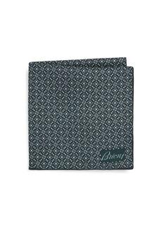 Brioni Pinwheel Silk Pocket Square