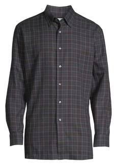 Brioni Plaid Dress Shirt