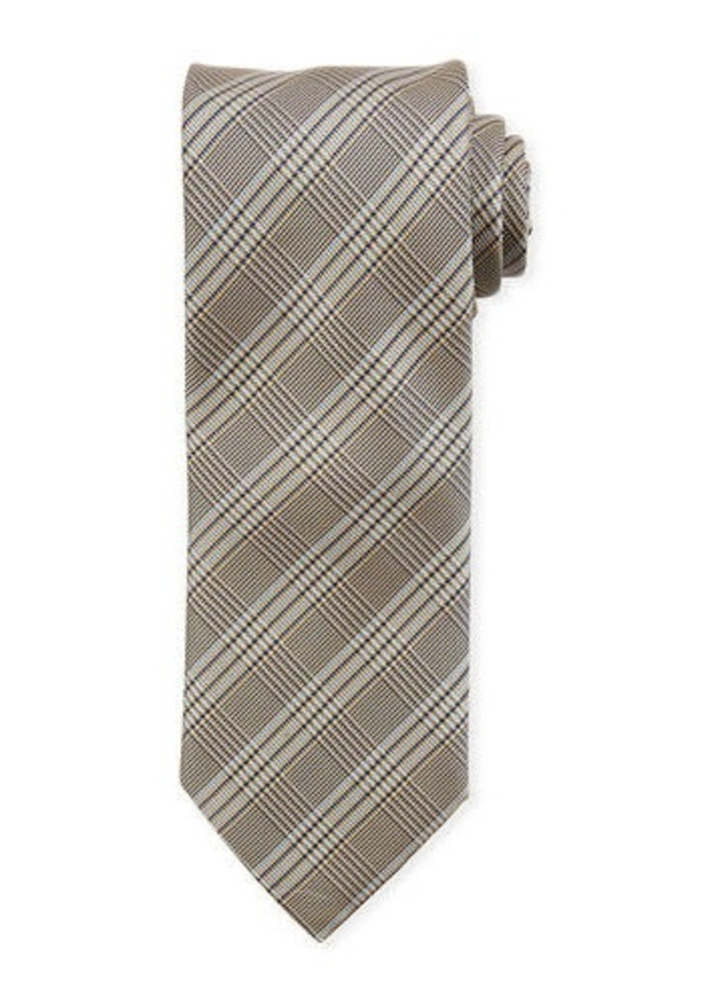 Brioni Plaid Silk Tie