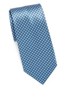 Brioni Printed Circle & Square Tie