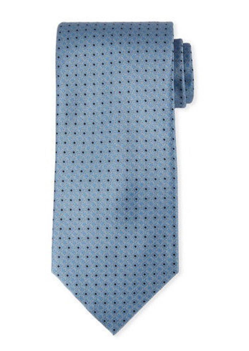 Brioni Printed Diamond Silk Tie