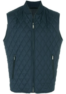 Brioni quilted zip-up gilet