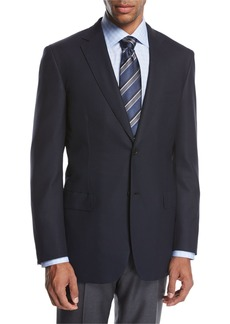 Brioni Ravello Wool Two-Button Sport Coat  Navy Blue