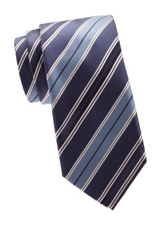 Brioni Regimental Diagonal Stripe Silk Tie