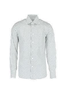 Brioni Regular-Fit Cassette-Print Cotton Shirt