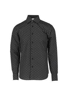 Brioni Regular Fit Logo-Print Cotton Shirt