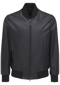 Brioni Reversible Leather & Wool Blend Jacket
