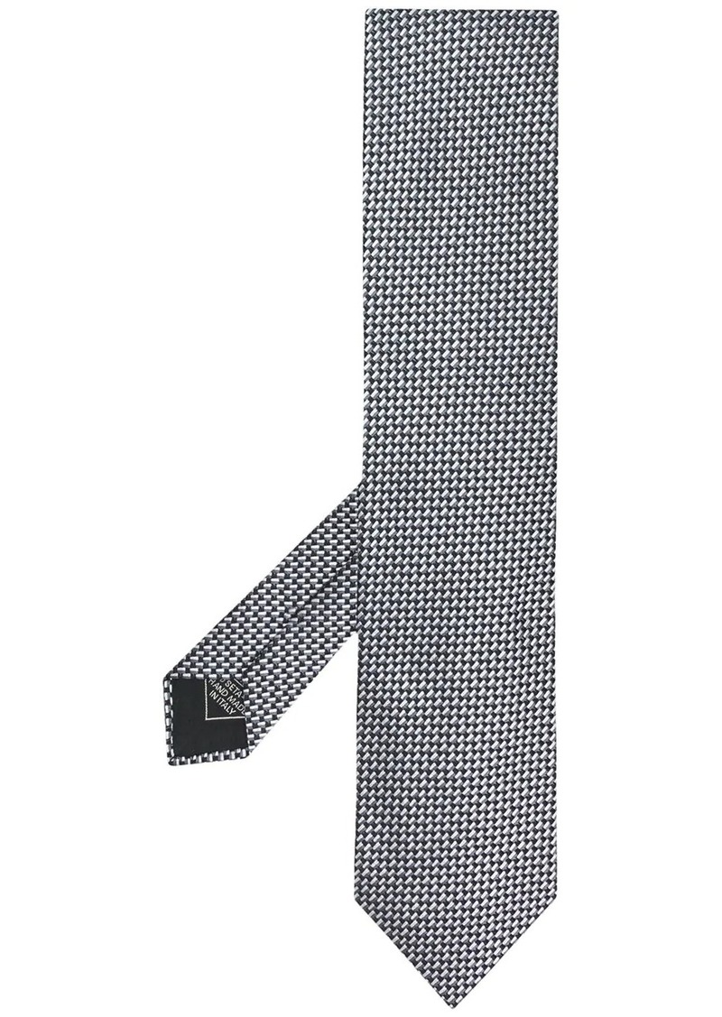 Brioni silk embroidered tie