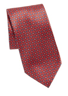 Brioni Silk Mini-Circle Tie