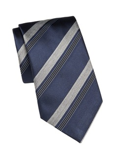 Brioni Silk Mixed-Stripe Tie
