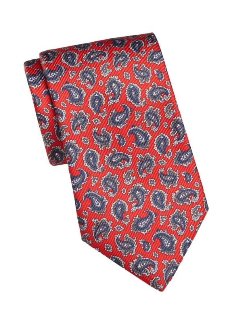 Brioni Silk Paisley Tie