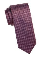 Brioni Silk Woven Medallion Tie