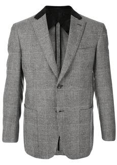 Brioni single-breasted check blazer