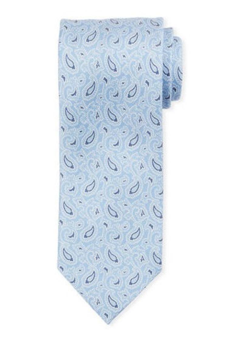 Brioni Small-Paisley Silk Tie