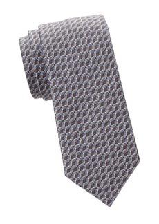Brioni Snakeskin-Print Silk Tie