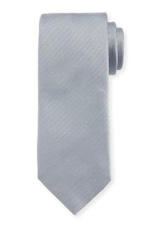Brioni Solid Chevron Silk Tie