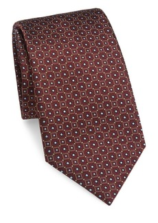 Brioni Square Diamond Silk Tie