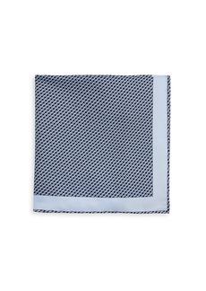 Brioni Square Graphic Silk Pocket Square