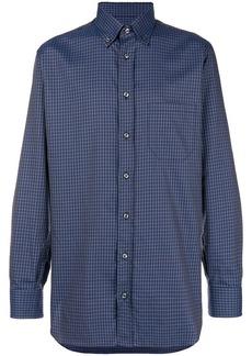 Brioni square print shirt