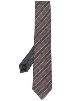 Brioni stripe-pattern tie