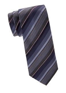 Brioni Stripe Woven Silk Tie